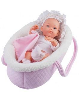 Кукла-пупс Paola Reina Роза в розовой переноске 32 см (5102) - kklab 05102