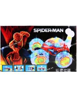 Машинка - Перевёртыш, Spider-man, радиоуправление, звук, свет - mlt 9808M-SP