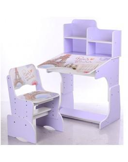 Парта детская регулируемая со стульчиком Париж Bambi (B 2071-22) - mpl B 2071-22