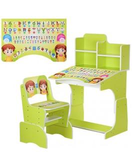 Парта детская регулируемая со стульчиком Алфавит Bambi (B 2071-16) - mpl B 2071-16