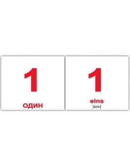 Карточки Домана мини Числа немецко-русские Вундеркинд с пеленок - WK 2100064094026