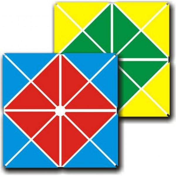 игра квадрат 4-х цветный методика Воскобовича