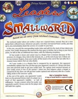 Дополнение Маленький мир: Лидеры (Small World: Leaders) - dtg 1836