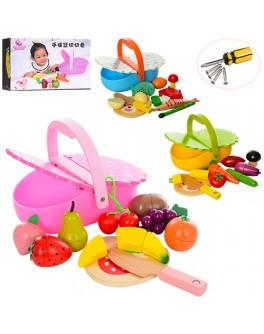 Деревянная игрушка Магнитные продукты с корзинкой (MD 1161)
