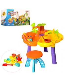 Детский игровой столик-песочница для песка и воды 9808