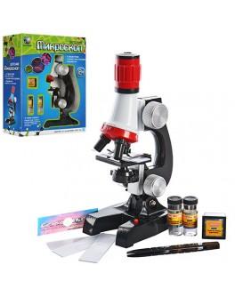 Детский микроскоп на 3 объектива 100х 400х 1200х - mpl C 2121