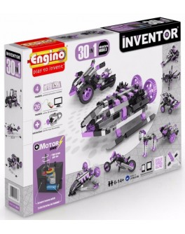 Конструктор Engino Inventor Motorized Adventure 30 в 1 с электродвигателем - KDS 3031