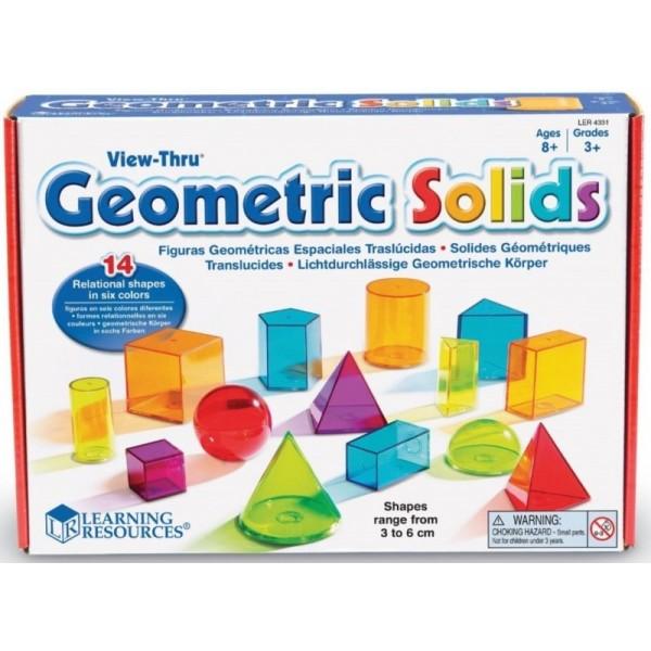 фото Набір об'ємних геометричних фігур, 14 шт Learning Resources LER4331 - KDS LER4331