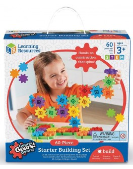 Конструктор с шестеренками Gears!Gears!Gears! 60 элементов Learning Resources  - TFK 0005