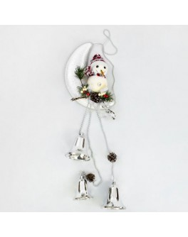 Декоративная новогодняя композиция Снеговик на луне - igs 70063