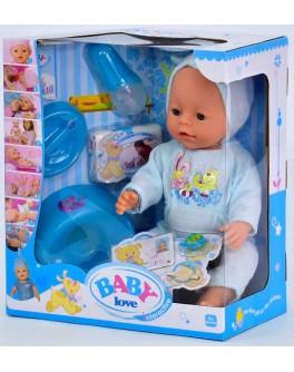 Пупс функциональный Baby Born BL 033 G в голубой пижамке с капюшоном  - igs 68316