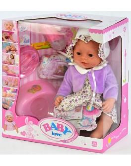 Пупс функциональный Baby Born BL 023 Q в платье в цветочек и сиреневом болеро - igs 68834