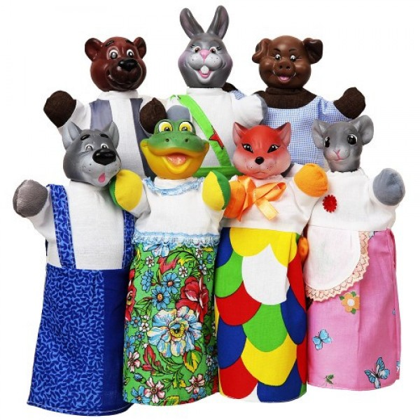 театр с куклами рукавичка