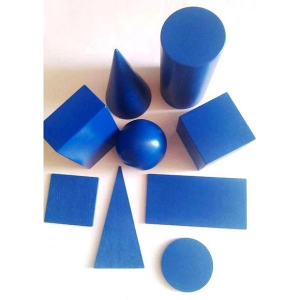 набор геометрических тел и фигур 9 элементов Komarovtoys A341+