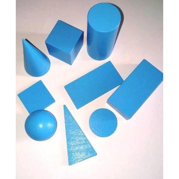 набор геометрических тел и фигур 9 элементов по 40 мм Komarovtoys А 371