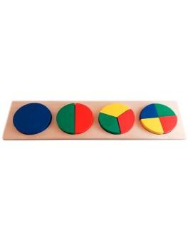Деревянная игрушка Досточка-вкладка Дроби Розумний Лис - roz 90075