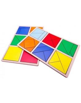 Сложи квадрат 1 уровень, Методика Никитиных, Розумний Лис - roz 90070