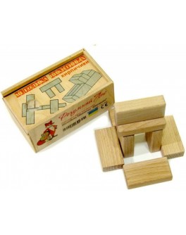 Деревянные кубики Кирпичики Методика Никитиных Розумний Лис - roz 90032