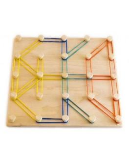 Математический планшет Фантазируем с резиночками Розумний Лис