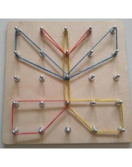 Математический планшет (рисуем резиночками, поле 5х5). Методика Монтессори