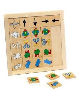 Деревянная игра Классификация. Укажи направление Lam Toys