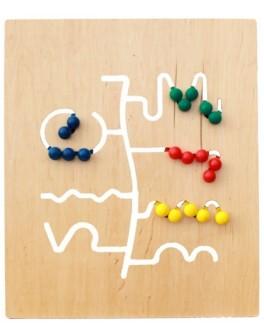 Игровая панель из дерева Лабиринт Lam Toys - lam 446-3