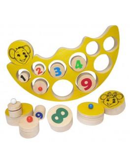 Деревянная игра Балансир Веселые Мышата Hega