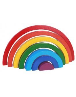 Дерев'яна пірамідка Веселка 7 кольорів Hega - hega 119