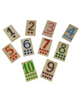 Деревянный набор Цифры малые Hega