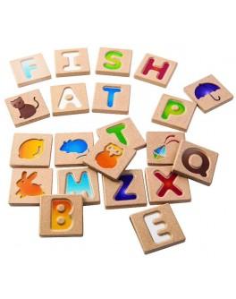 Дерев'яний англійський алфавіт A-Z Plan Toys (5637) - plant 5637