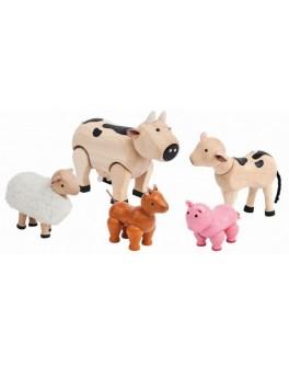 Деревянная игрушка Plan Toys Набор сельскохозяйственных животных (7135)
