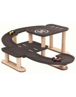 Деревянная игрушка Plan Toys Парковка обгоняй и играй (6270)