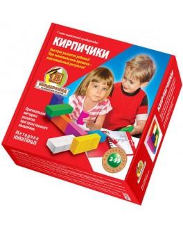 Деревянные кубики Никитина - Кирпичики, 8 цветов - wkind k-005