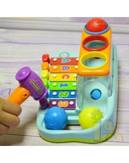 Развивающая игрушка Ксилофон детский и Стучалка Hola 856 - afk 856