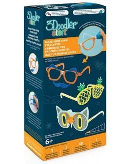 Набор аксессуаров для 3D-ручки 3Doodler Start – МОДНЫЕ ОЧКИ (48 стержней, 3 шаблона, 1 трафарет) - KDS 8SMKEYEG3R