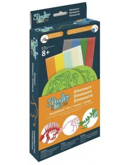 Набор аксессуаров для 3D-ручки 3Doodler Start – ДИНОЗАВРЫ - KDS 3DS-DBK-DN-COM