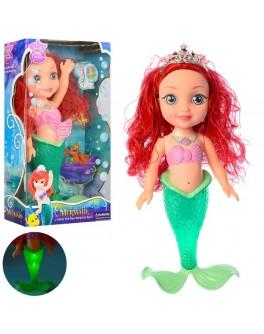 Кукла поющая русалка Ариель со светящимся хвостом - mpl 877