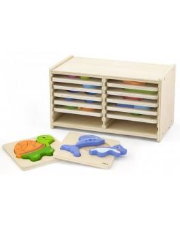 Набор пазлов из дерева Viga Toys 12 штук (51423) - afk 51423