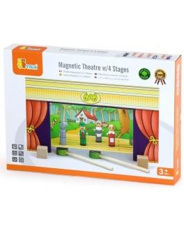 Кукольный театр настольный с 15 куклами Viga Toys (56005) - afk 56005