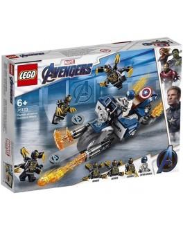 Конструктор LEGO Super Heroes Капитан Америка: Атака Аутрайдеров (76123) - bvl 76123
