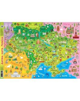Плакат Детская карта Украины А1 - ukrd П92804