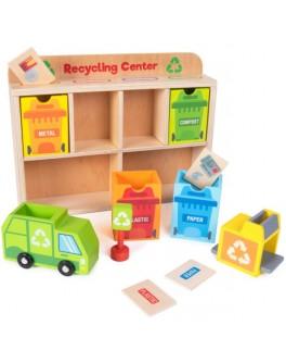 Деревянная игрушка Центр сортировки и переработки мусора