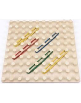 Математический планшет (геоборд) Фантазируем с резиночками 10х10 Розумний Лис