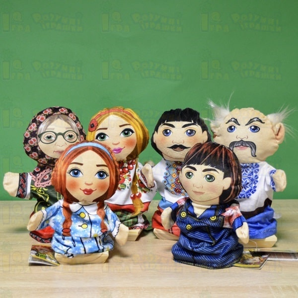 куклы на руку Украинская семья для кукольного театра
