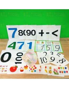 Дидактический материал по математике с магнитами на класс  (830 карточек)  Комплект №2
