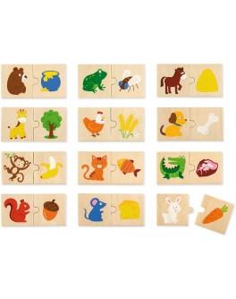 Набор пазлов из дерева Viga Toys Что едят животные (51607) - afk 51607
