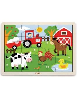 Пазл из дерева Viga Toys Ферма (51448) - afk 51448