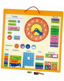 Календарь магнитный для изучения английского языка 75 деталей - afk 50377