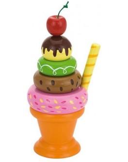 Игрушка деревянная Viga Toys Мороженное с фруктами. Вишенка (51322) - afk 51322