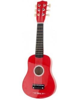 Игрушка Viga Toys Гитара, красный (50691)